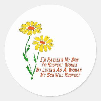 Respect Women Classic Round Sticker