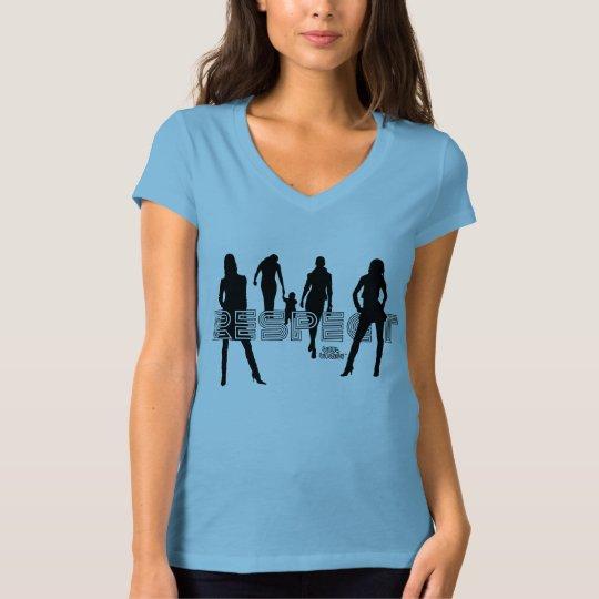 Respect Women's Bella Jersey V-Neck T-Shirt