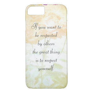 Respect Yourself (Dostoyevsky Quote) iPhone 7 case