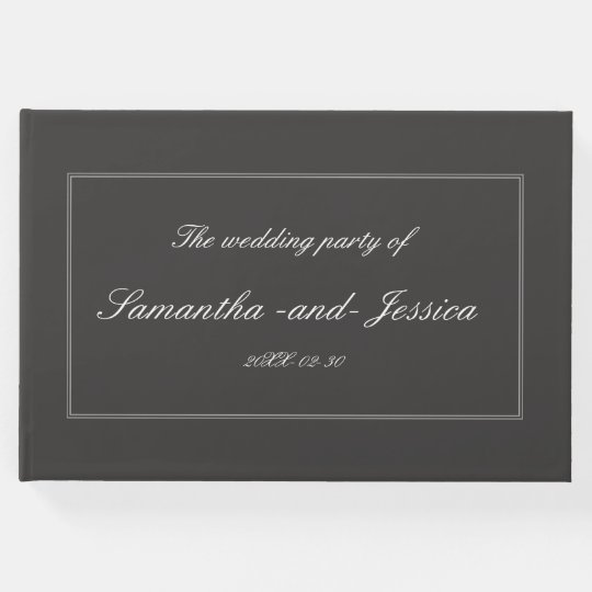 Respectable, Personalised Wedding Guest Book