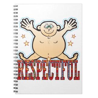 Respectful Fat Man Spiral Notebook