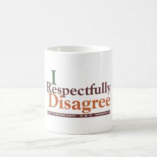 Respectfully disagree mug