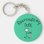 Respiratory DUDE T-Shirts & Gifs Basic Round Button Key Ring
