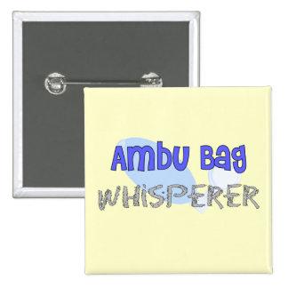 "Respiratory Therapist ""Ambu Bag Whisperer"" 15 Cm Square Badge"