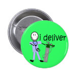 "Respiratory Therapist ""I Deliver""  (Oxygen) Pinback Button"