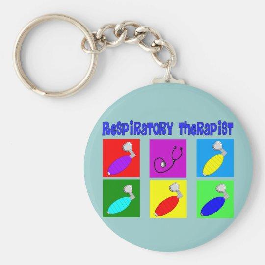 Respiratory Therapist Pop Art Design Gifts Key Ring