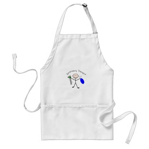 Respiratory Therapist Stick Person Adult Apron