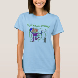 "Respiratory Therapist T-Shirt, ""Gottal Intubate"" T-Shirt"