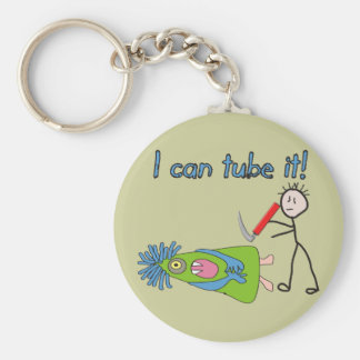 """Respiratory Therapy Gifts """"I Can Tube it!"""" Basic Round Button Key Ring"""