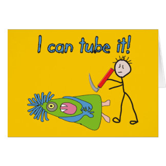 "Respiratory Therapy Gifts ""I Can Tube it!"" Card"