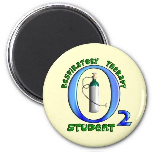 Respiratory Therapy Student O2 Tank Design Fridge Magnet