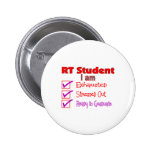 Respiratory Therapy Student--Stressed Out! 6 Cm Round Badge