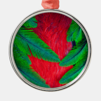 Resplendent Quetzal feather design Christmas Ornament