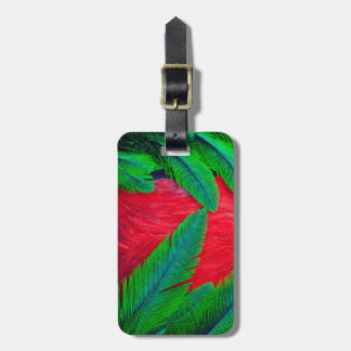 Resplendent Quetzal feather design Luggage Tag