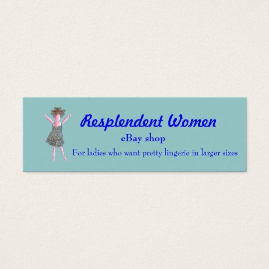 'Resplendent Women '   Promotion  business flyer Mini Business Card