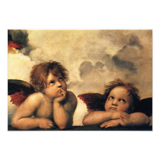 Response Card; Sistine Madonna Angels by Raphael Custom Announcement