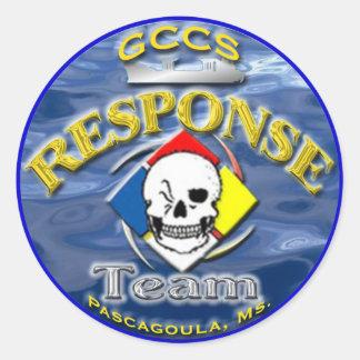 RESPONSE TEAM 2 CLASSIC ROUND STICKER