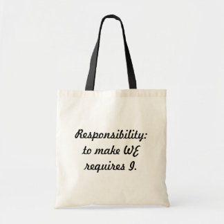Responsibility Budget Tote Bag