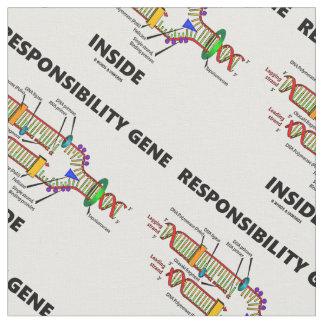 Responsibility Gene Inside DNA Genetics Humor Fabric