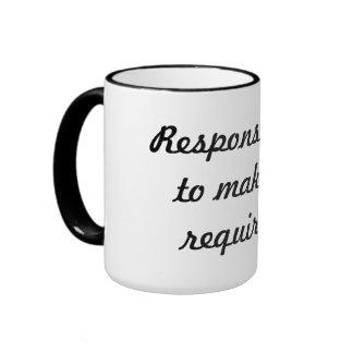 Responsibility Ringer Mug