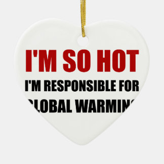Responsible For Global Warming Ceramic Heart Decoration