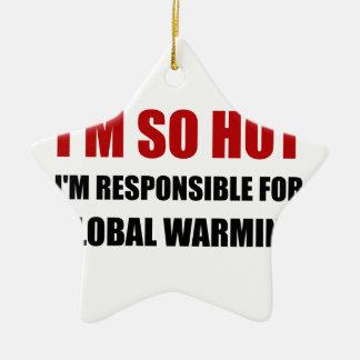 Responsible For Global Warming Ceramic Star Decoration