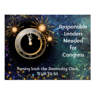 Responsible Leaders for Congress Doomsday Clock Postcard