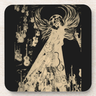 Ressurrection Temple Of Guitars Plastic Coaster