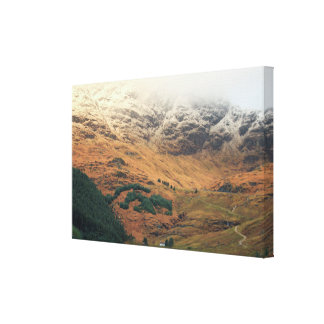 Rest and Be Thankful Scottish Highland Landscape Gallery Wrap Canvas