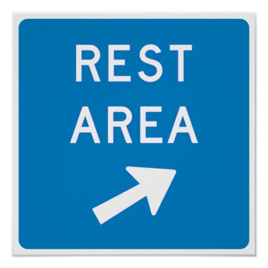 Rest Area Highway Sign