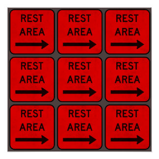 Rest Area Signs Poster