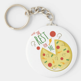 Rest For Me Basic Round Button Key Ring