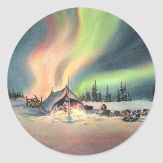 REST for the MUSHERS by SHARON SHARPE Round Sticker