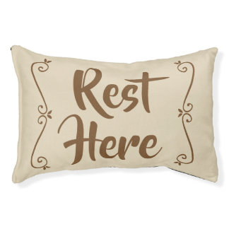 Rest Here Pet Bed (Beige)