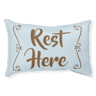 Rest Here Pet Bed (Blue)