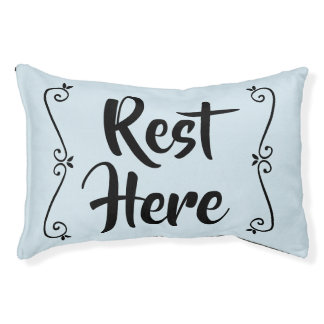 Rest Here Pet Bed (Pale Blue with Black)