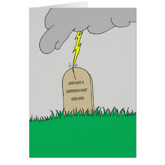 Rest In Peace Marriage Card