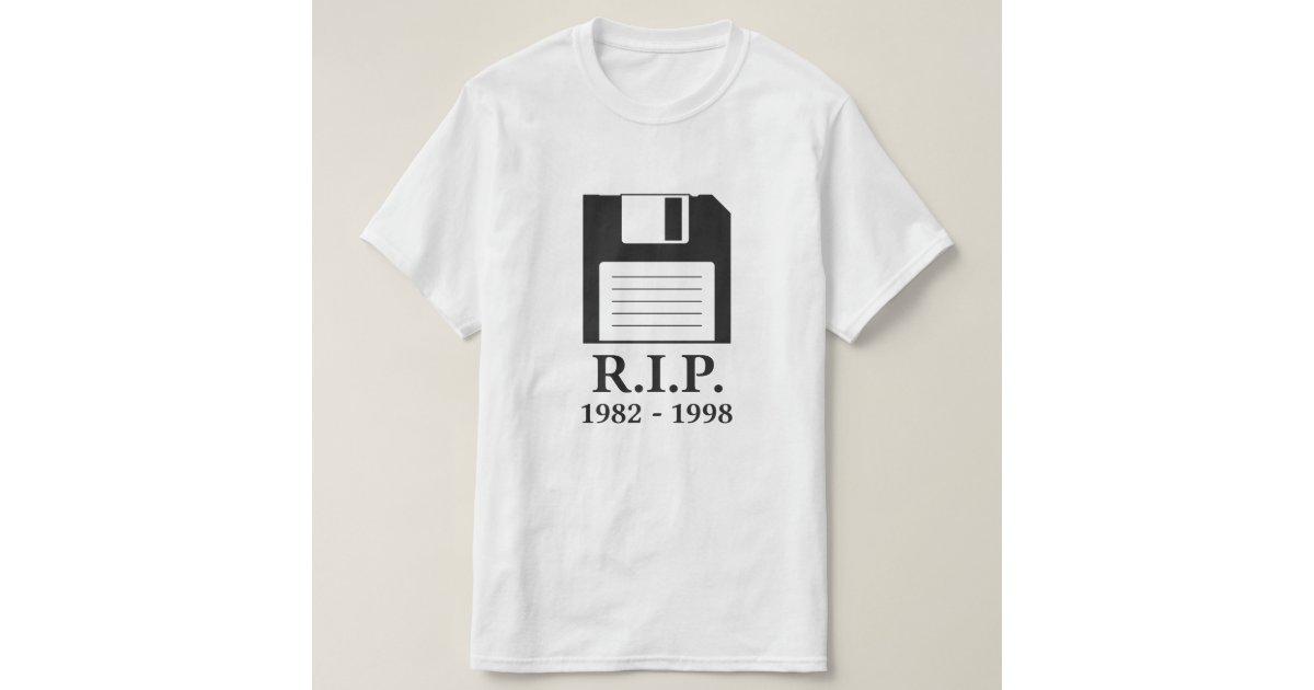 Rest In Peace Rip Floppy Disc Tshirt Zazzle