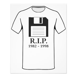 Rest in Peace RIP Floppy Disk 11.5 Cm X 14 Cm Flyer