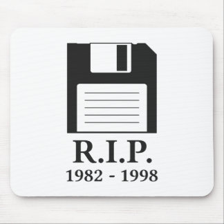 Rest in Peace RIP Floppy Disk Mouse Pads