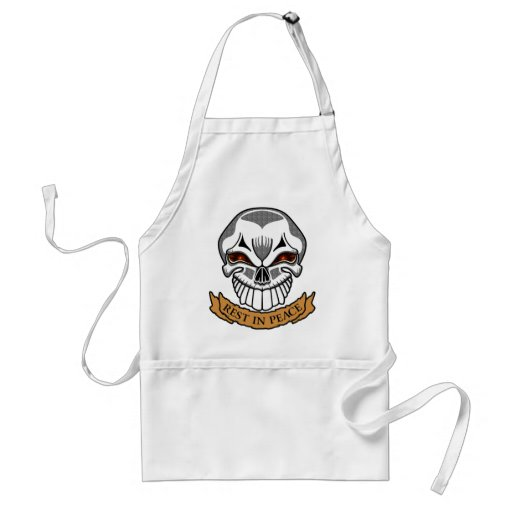 Rest In Peace Skull Biker T shirts Gifts Apron