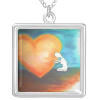 Rest on God's Heart necklace
