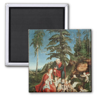 Rest on the Flight into Egypt, 1504 Square Magnet