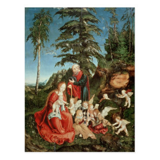 Rest on the Flight into Egypt, 1504 Postcard
