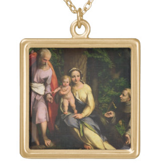 Rest on the Flight into Egypt, c.1515 (oil on canv Gold Plated Necklace