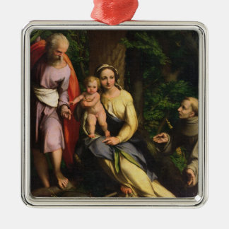 Rest on the Flight into Egypt, c.1515 (oil on canv Silver-Colored Square Decoration