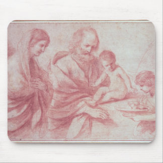 Rest on the Flight into Egypt (red chalk on paper) Mouse Mat