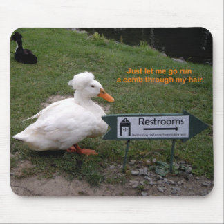 Rest Room Duck Mouse Pad