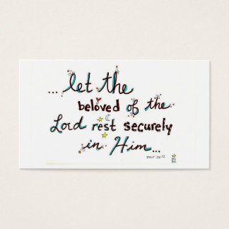 Rest Securely in Him Business Card