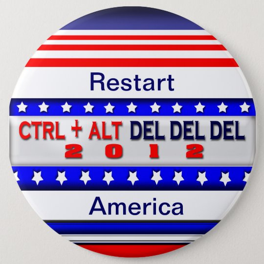 Restart America 6 Cm Round Badge